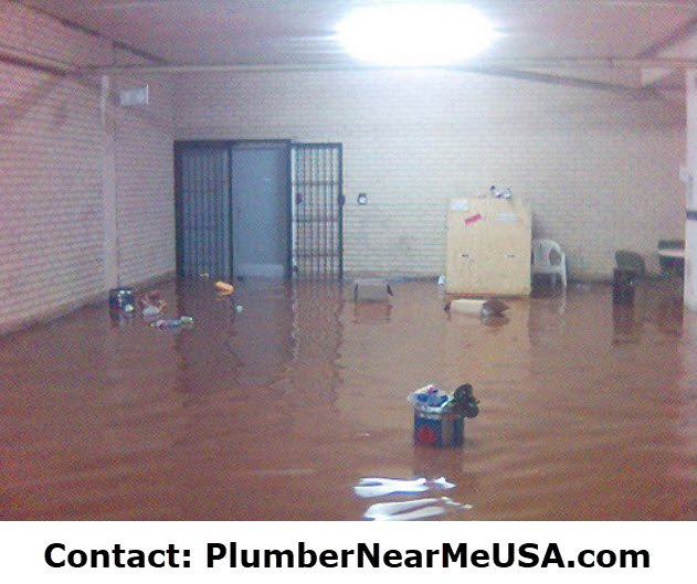 Flooded basement. Contact PlumberNearMeUSA.com