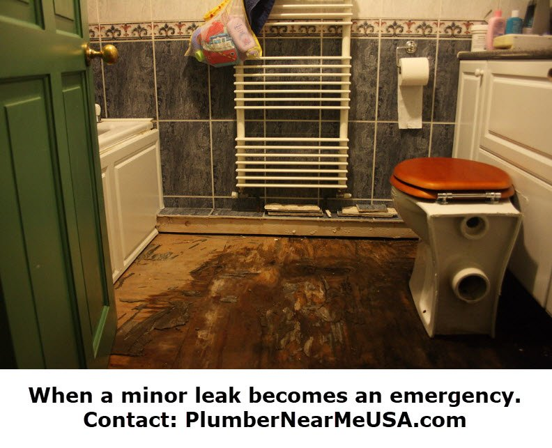 When a minor leak becomes an emergency. Contact PlumberNearMeUSA.com