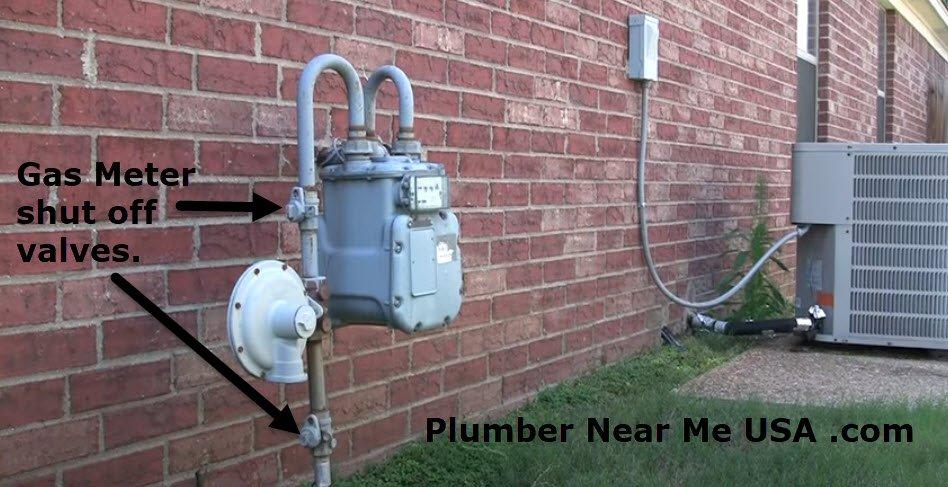 Gas Meter shut off valves. Plumber Near Me USA .com