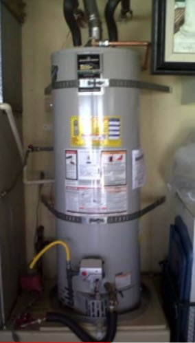 New water heater installed.