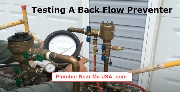 Testing a back flow preventer. Plumber Near Me free estimate