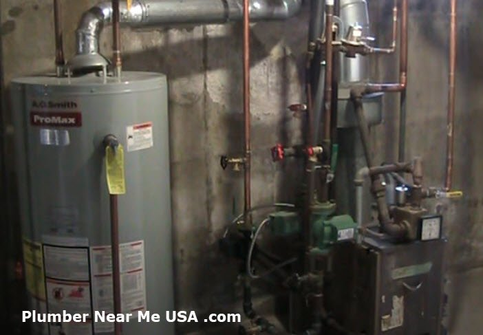 Water heater and home heating boiler. Plumber Near Me free estimate